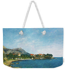 Weekender Tote Bag featuring the painting Bealieu - The Bay Of Fourmis by Eugene Boudin