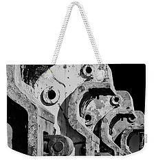Weekender Tote Bag featuring the photograph Beam Bender - Bw by Werner Padarin