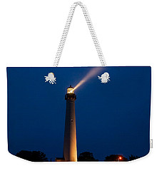 Weekender Tote Bag featuring the photograph Beam Of Light At Cape May by Nick Zelinsky
