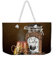 Beans To Cup Weekender Tote Bag by Shirley Mangini