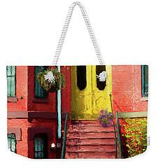 Beantown Brownstone With Yellow Doors Weekender Tote Bag