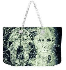 Weekender Tote Bag featuring the photograph Cow And Me by Ronda Broatch