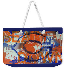 Weekender Tote Bag featuring the painting Bear Down by Melissa Goodrich