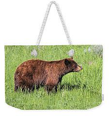 Bear Eating Daisies Weekender Tote Bag