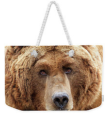 Bear Face Weekender Tote Bag by Steve McKinzie