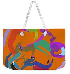Weekender Tote Bag featuring the painting Bear  by Go Van Kampen