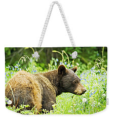 Bear In Flowers Weekender Tote Bag