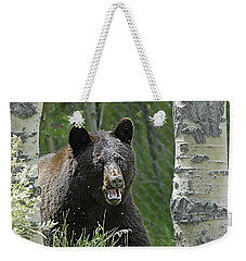 Bear In Yard Weekender Tote Bag