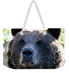 Bear On Grouse Weekender Tote Bag