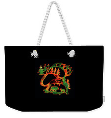 Emerald Bear Paw  Weekender Tote Bag
