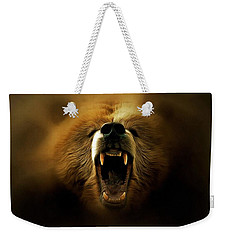 Bear Roar Weekender Tote Bag by Lilia D
