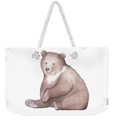 Bear Watercolor Weekender Tote Bag