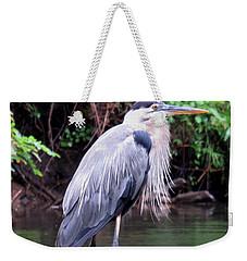 Bearded Blue Heron Weekender Tote Bag