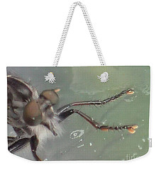 Weekender Tote Bag featuring the photograph Bearded Bug by Christina Verdgeline