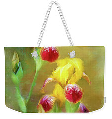 Bearded Iris Pair Weekender Tote Bag