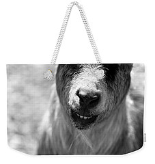 Weekender Tote Bag featuring the photograph Beardy Smiley by Angela Rath