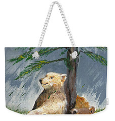 Bears And Tree Weekender Tote Bag