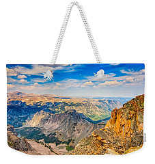 Weekender Tote Bag featuring the photograph Beartooth Highway Scenic View by John M Bailey