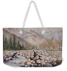 Beas River Manali Weekender Tote Bag