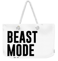 Beast Mode On - Gym Quotes 1 - Minimalist Print - Typography - Quote Poster Weekender Tote Bag