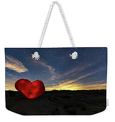 Weekender Tote Bag featuring the photograph Beating Heart by Tassanee Angiolillo