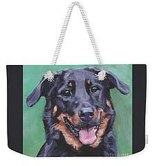 Beauceron Portrait Weekender Tote Bag by Lee Ann Shepard
