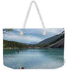 Beauiful Lake Maligne Weekender Tote Bag by Patricia Hofmeester