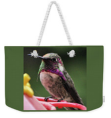 Beautiful Anna's Hummingbird On Perch Weekender Tote Bag
