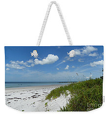 Weekender Tote Bag featuring the photograph Beautiful Beach Day by Carol  Bradley