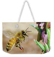 Beautiful Bee Weekender Tote Bag by Deborah Moen