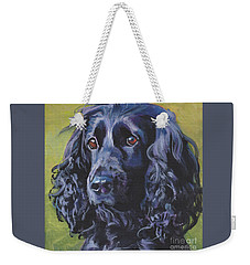 Beautiful Black English Cocker Spaniel Weekender Tote Bag
