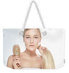 Beautiful Blond Model Weekender Tote Bag