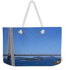Beautiful Bridge In Dubrovnick Weekender Tote Bag