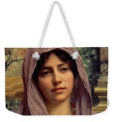 Beautiful Brunette 1918 Weekender Tote Bag by Padre Art