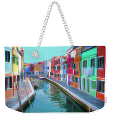 Beautiful Burano Venice Italy Weekender Tote Bag by Jack Torcello