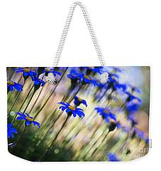Beautiful Dancing Blue Flowers Romance Weekender Tote Bag