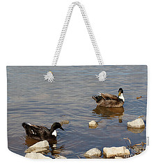 Weekender Tote Bag featuring the photograph Beautiful Ducks by Todd Blanchard