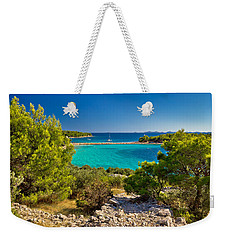 Beautiful Emerald Beach On Murter Island Weekender Tote Bag by Brch Photography