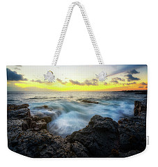 Weekender Tote Bag featuring the photograph Beautiful Ending by Ryan Manuel