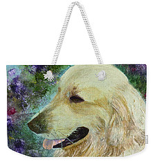 Weekender Tote Bag featuring the painting Beautiful Golden by Claire Bull