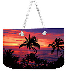 Weekender Tote Bag featuring the photograph Beautiful Hawaiian Sunset by Michael Rucker