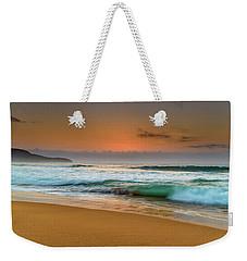 Beautiful Hazy Sunrise Seascape  Weekender Tote Bag