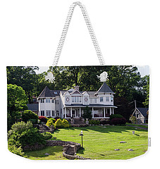 Weekender Tote Bag featuring the photograph Beautiful Home On Lake Hopatcong by Maureen E Ritter