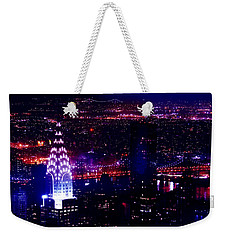 Beautiful Manhattan Skyline Weekender Tote Bag by Az Jackson
