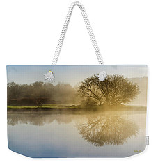 Weekender Tote Bag featuring the photograph Beautiful Misty River Sunrise by Christina Rollo