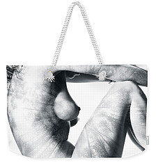 Beautiful Nude Woman Body With Forest Nature Design On It Weekender Tote Bag