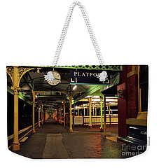 Weekender Tote Bag featuring the photograph Beautiful Old Albury Station By Kaye Menner by Kaye Menner