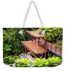 Beautiful Pagoda In Tropical Garden Weekender Tote Bag