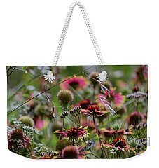 Beautiful Purple And Yellow Wildflowers Weekender Tote Bag