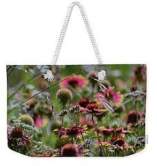Beautiful Purple And Yellow Wildflowers Weekender Tote Bag